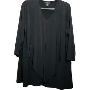 Alfani Black v-neck 3/4 sleeve blouse size 2X